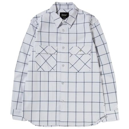 {ie Work Shirt - White/Blue Check