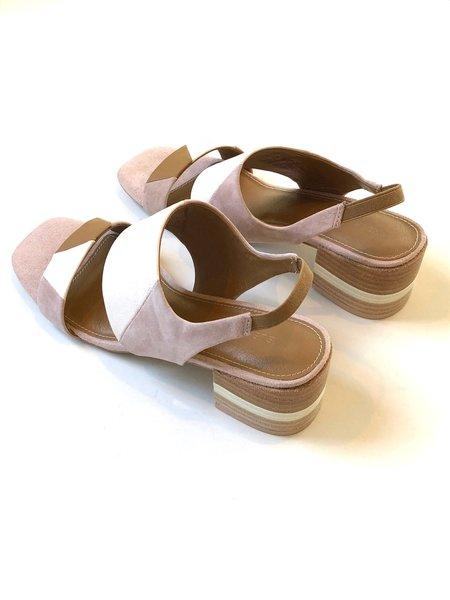 Kelsi Dagger Shiloh Heel - Off-White/Pale Pink