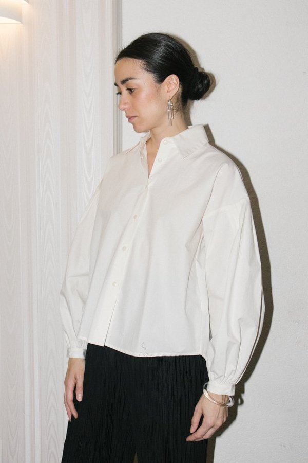 Mr. Larkin Poppy Shirt - Paper White