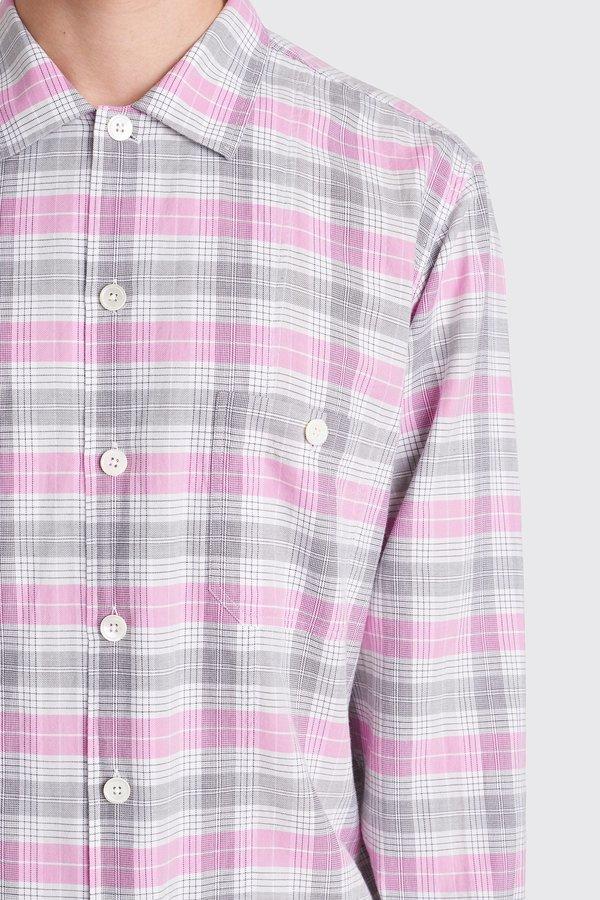 Tres Bien Short Tunic Flannel - Magenta Check
