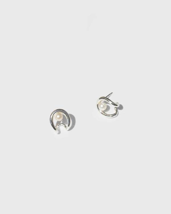 Knobbly Oyster Earrings with Pearl - Sterling Silver/Goldfilled