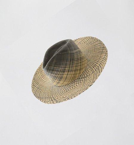G.Viteri Quinta Ombre Hat - Grey / Natural