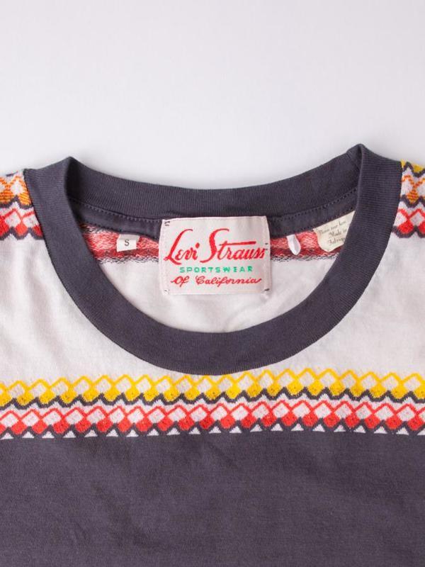 Levi's Vintage Clothing 1950's Sportswear Tee - Wave Jacquard Blue Multi