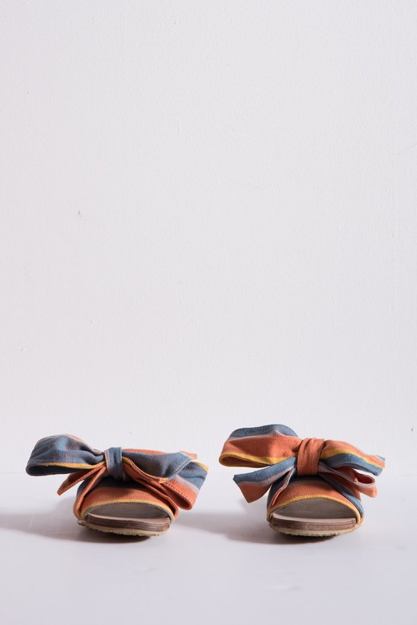 Brother Vellies Burkina Slide - Papaya Stripe