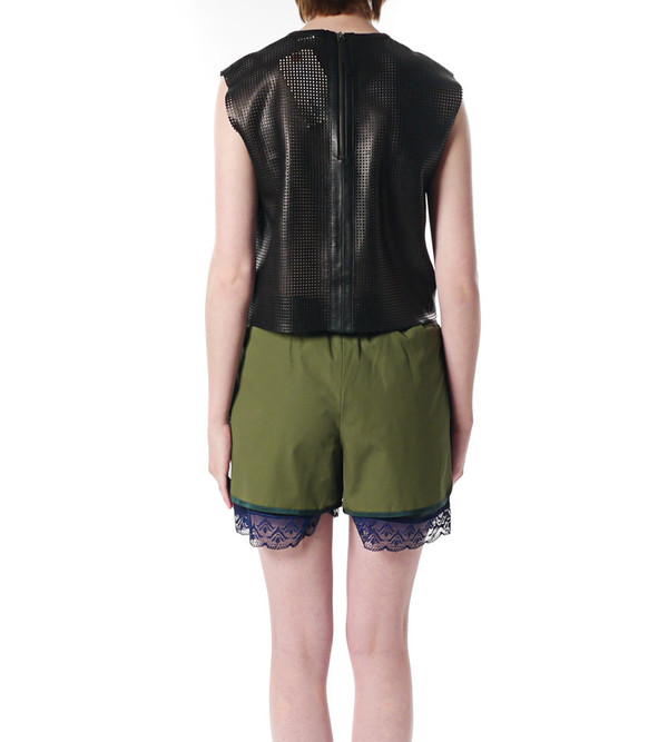 Helmut Lang Sift Leather Top