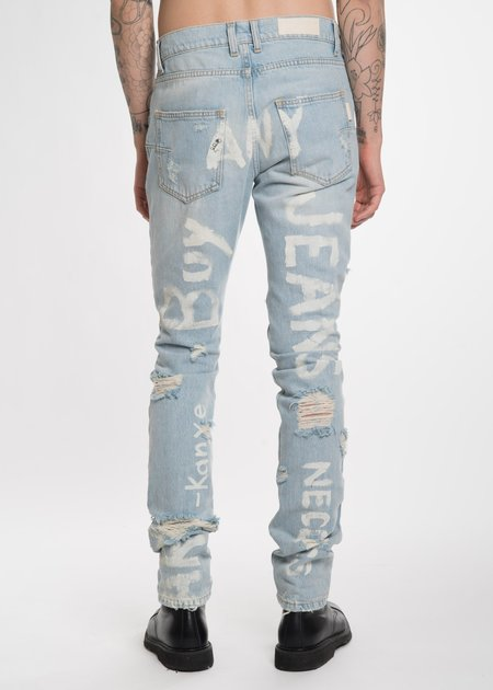 Ih Nom Uh Nit Destroyed Jeans with Print Pant - Blue