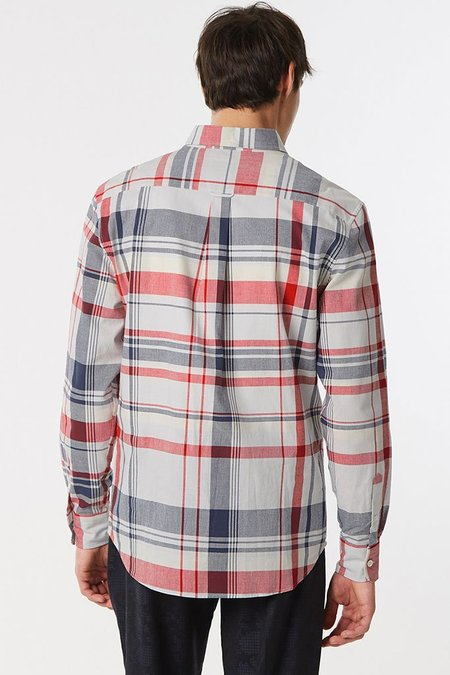 Kitsune Men's Check Classic Shirt Button Down - Multi