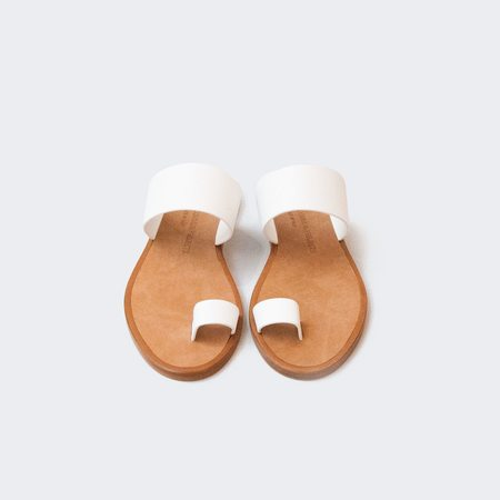 Woman by Common Projects Minimalist Sandal - White