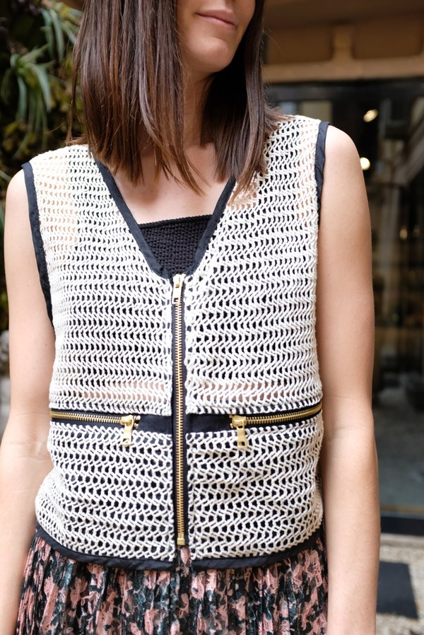 Beklina Basta Travel Vest - Natural/Black
