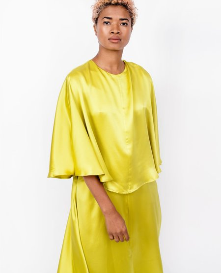 Wolcott Takemoto Kepu Dress - Lime