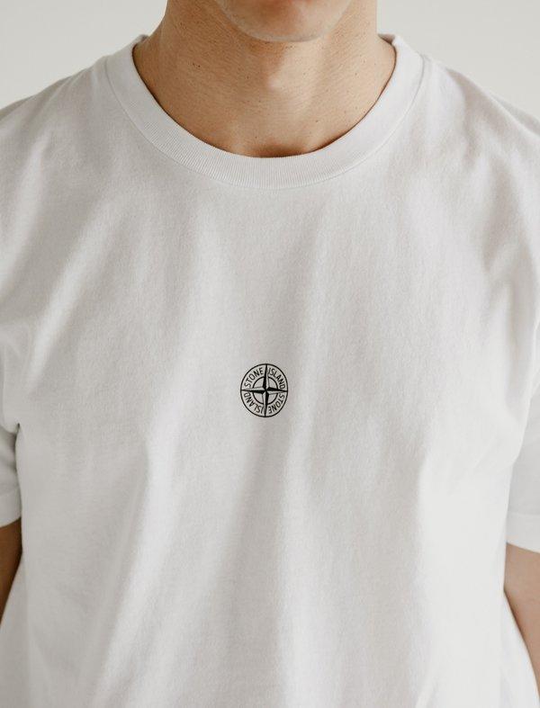 Stone Island Logo T-Shirt - White