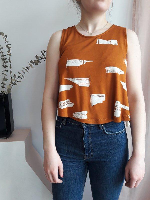 Eve Gravel Minnow Top - Orange