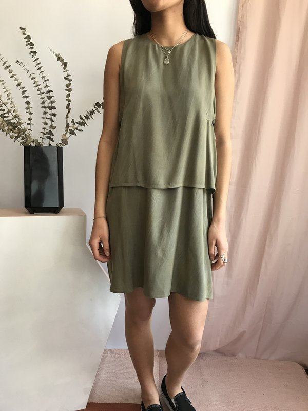 Valérie Dumaine Dove Dress - Khaki