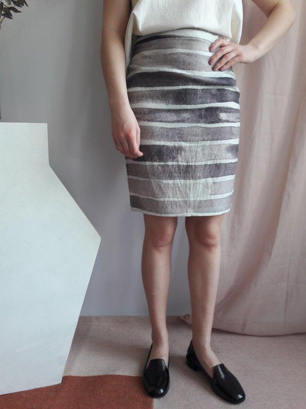 Valérie Dumaine Paige Skirt - Stripes