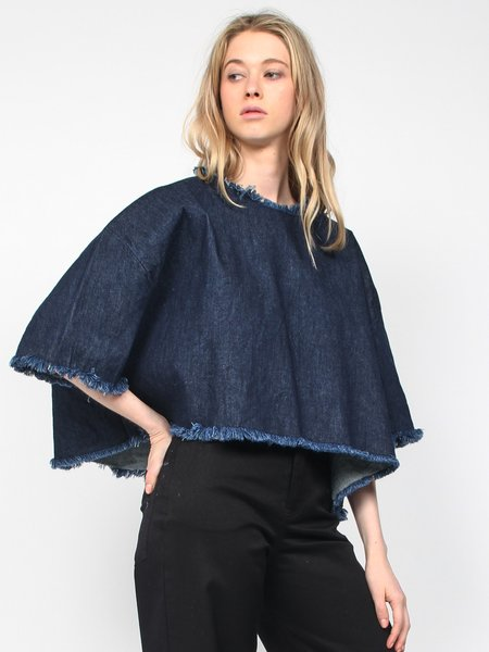 Ashley Rowe Washed Denim Tee - Dark Blue
