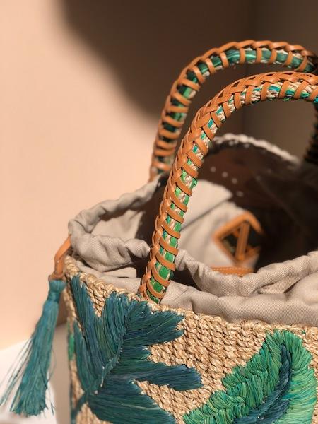 Aranaz Nana Woven Abaca Bucket Bag