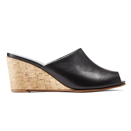 Ops&Ops No15 Wedge Mules - Classic Black