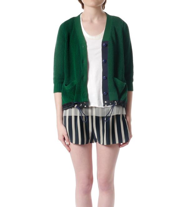 Sacai Luck Green Knit Cardigan