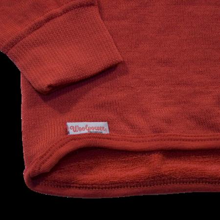 Unisex Woolpower 200g Half Zip Turtleneck - Red