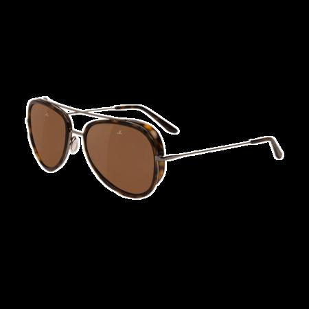 Unisex Vuarnet Edge Pilot Sunglasses - Tortoise/Gunmetal