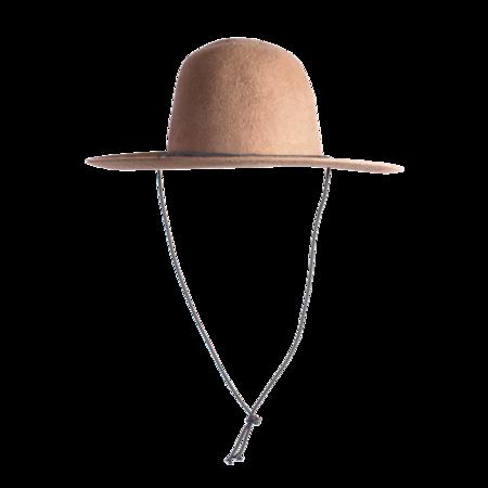 Unisex Westerlind Felt Hat with Cord - Camel