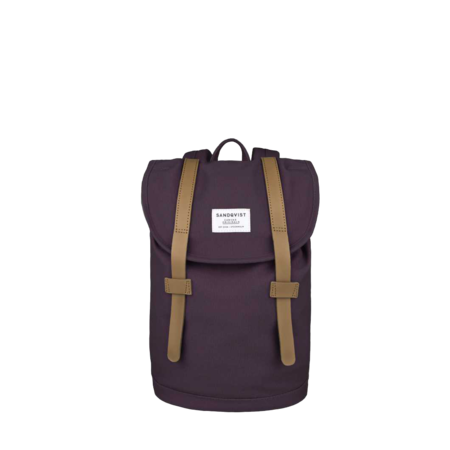 Unisex Sandqvist Stig Mini Backpack - Plum
