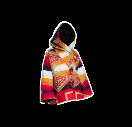 Lindsey Thornburg Trench Cloak - Orange/Red