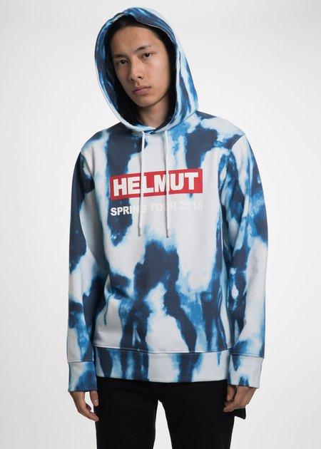 Helmut Lang Bleached Helmut Tour Hoodie Top - Blue