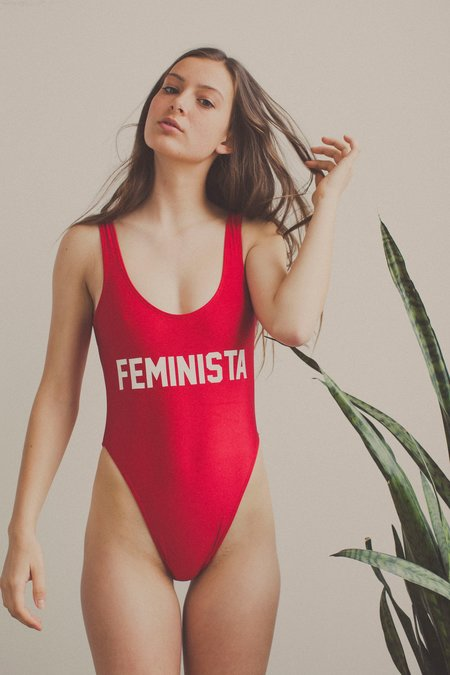 Private Party Feminista One Piece Swimsuit - Red