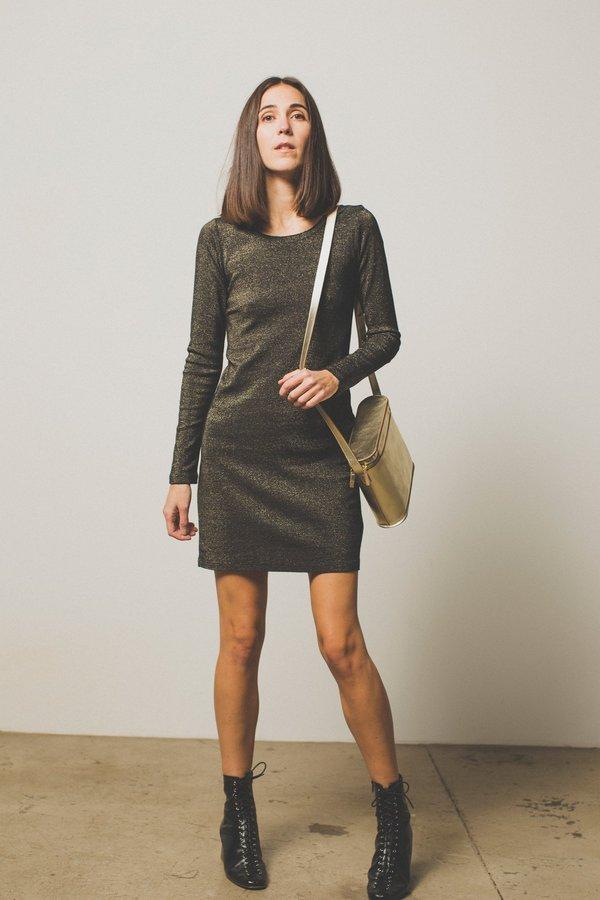 Nation Ltd Little Metallic Dress - Black/Gold