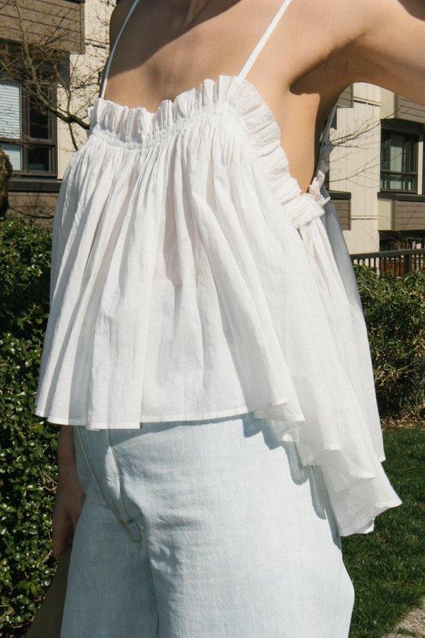 Apiece Apart Sanna Cropped Camisole - Cream