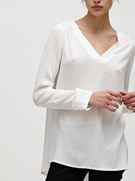 Charli Vanda Raw Seam Top - White