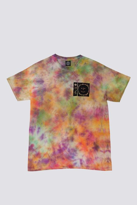 Unisex Silent Sound Hand Dyed Flowers Tee
