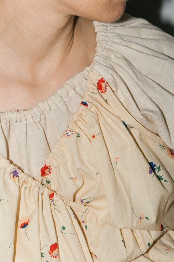 Caron Callahan Elena Top - Ivory Floral