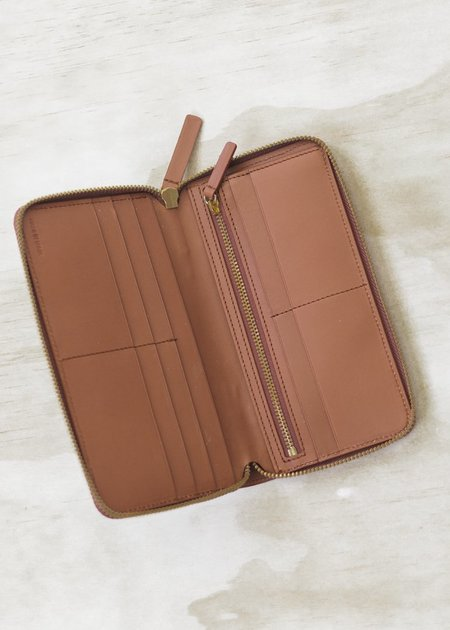 The Stowe Long Zip Wallet - Cognac