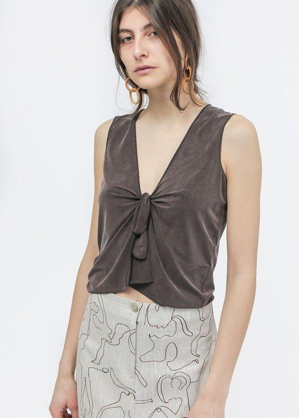 Paloma Wool Rita Top - Dark Brown