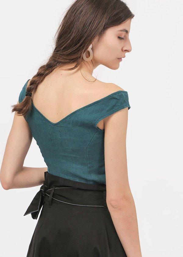 Paloma Wool Tabule Top - Green
