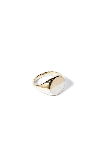 E.M. Kelly Duality Ring - White/Yellow Gold