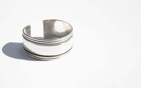 Found By Kindred Black Double Strand Silver Cuff