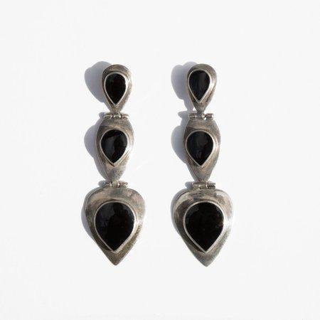 Found By Kindred Black Western Teardrop Earrings