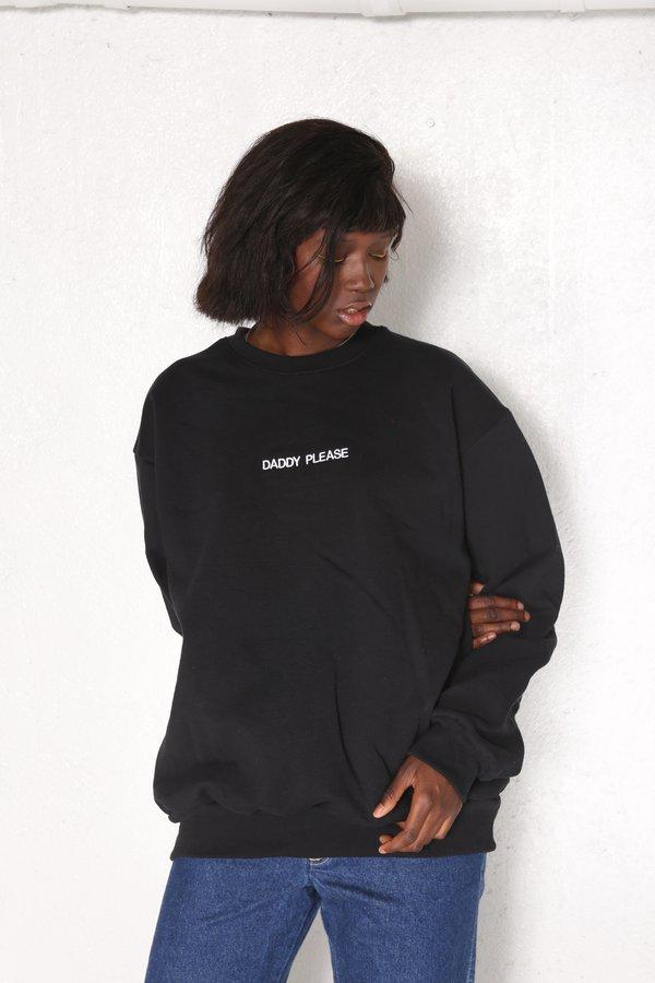 Unisex Intentionally Blank Gimmie Gimmie Pullover Sweatshirt - Black/White