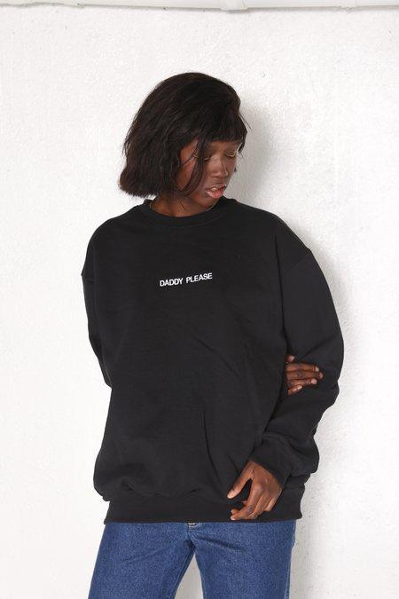 "Unisex ""INTENTIONALLY __________."" Gimmie Gimmie Pullover Sweatshirt - Black/White"