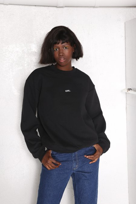 """INTENTIONALLY __________."" GURL Pullover - Blk/Wht"