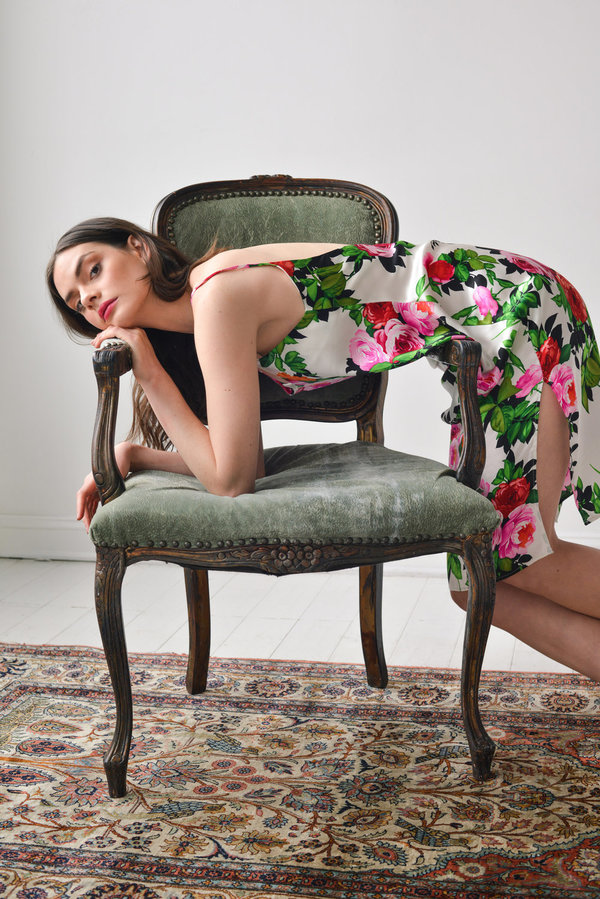 Aurora Vestita Nicolina Slip Dress - Floral Printed