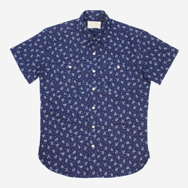 Kovalum Fenwick Short-Sleeve Shirt - Indigo Floral