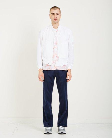 Engineered Garments AVIATOR JACKET MEMORY POLYESTER - WHITE