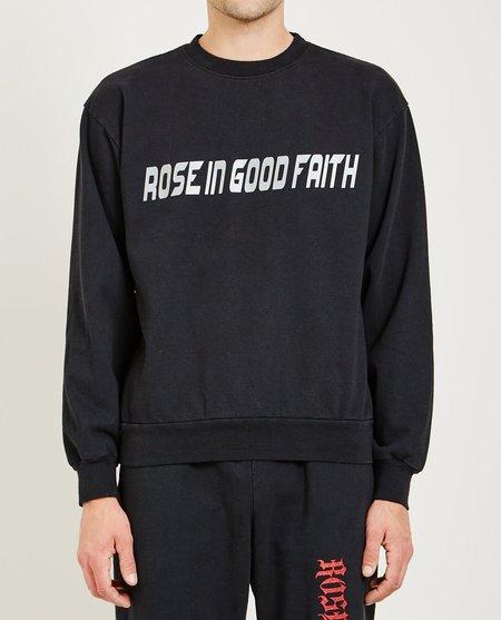 ROSE IN GOOD FAITH FLEECE CREWNECK SWEATER