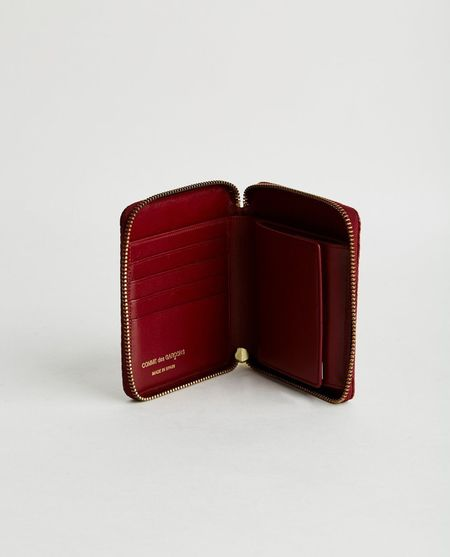 Comme des Garçons LUXURY LEATHER WALLET - BURGUNDY