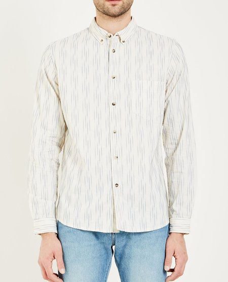 Levi's Made & Crafted STANDARD SHIRT - IKAT WHITE/BLUE
