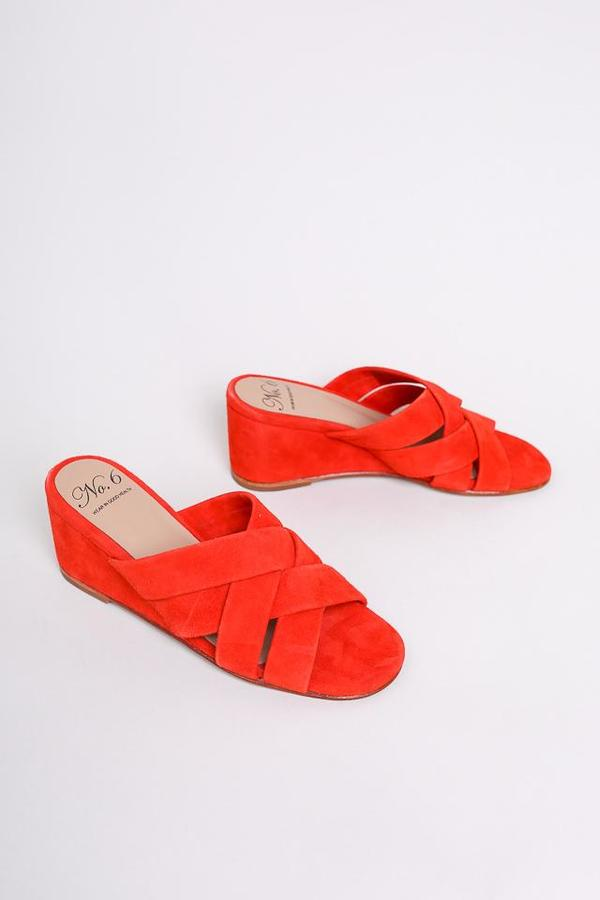 No.6 Orlando Woven Wedge in Flame